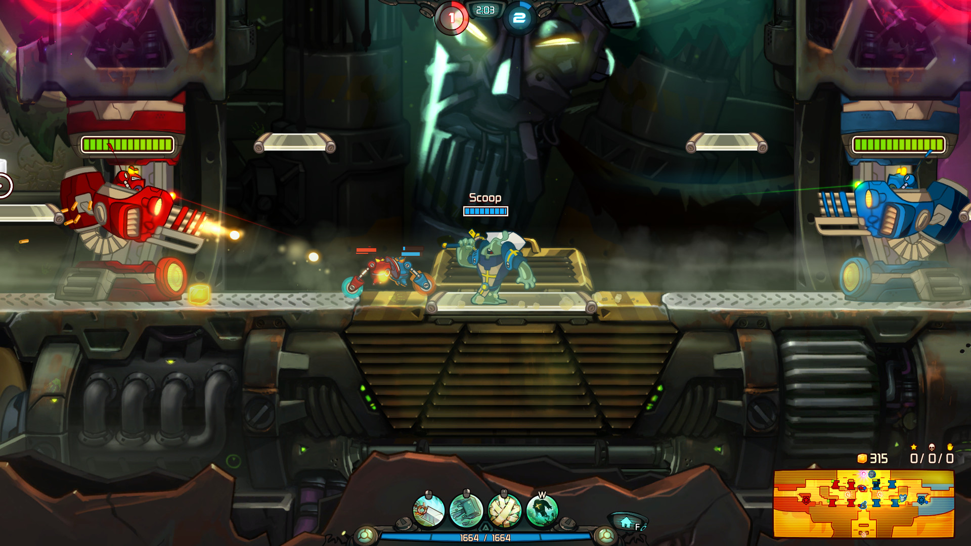 Scoop of Justice - Awesomenauts Character screenshot