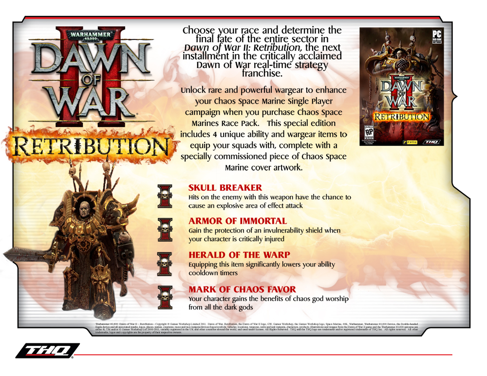 Warhammer 40000 Dawn Of War Ii Retribution Chaos Space Marines