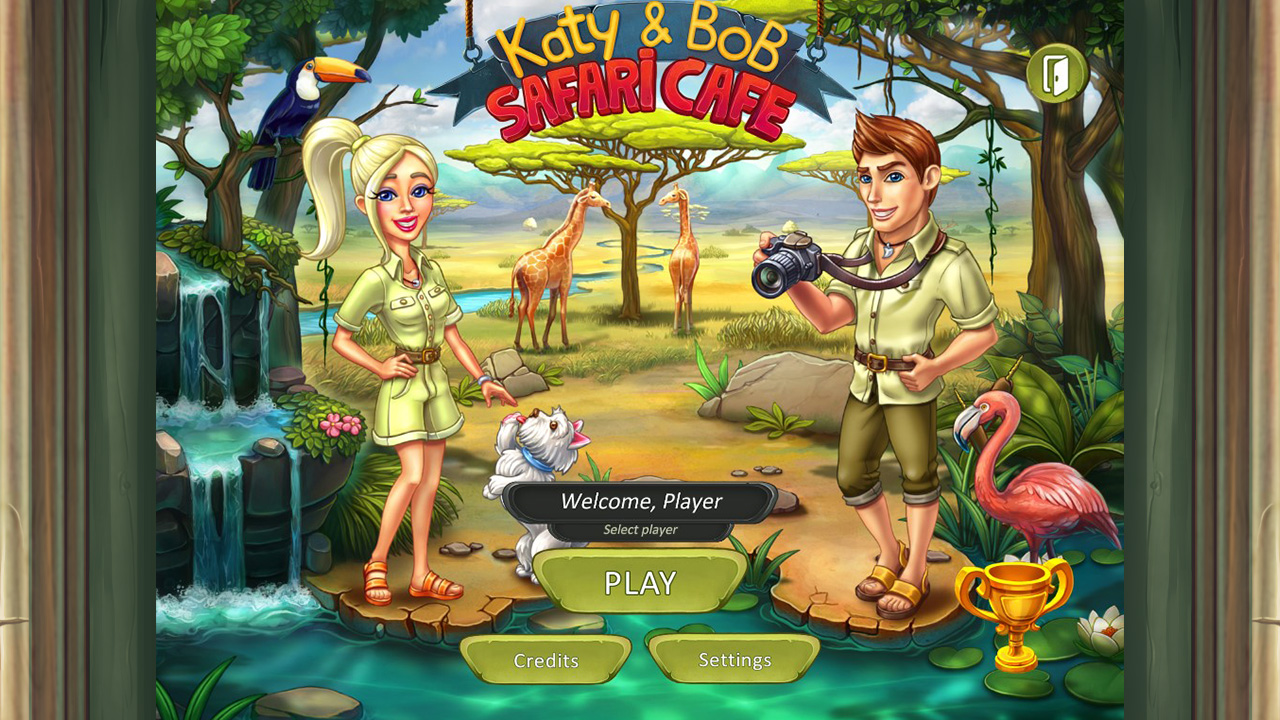 Katy and Bob: Safari Cafe screenshot