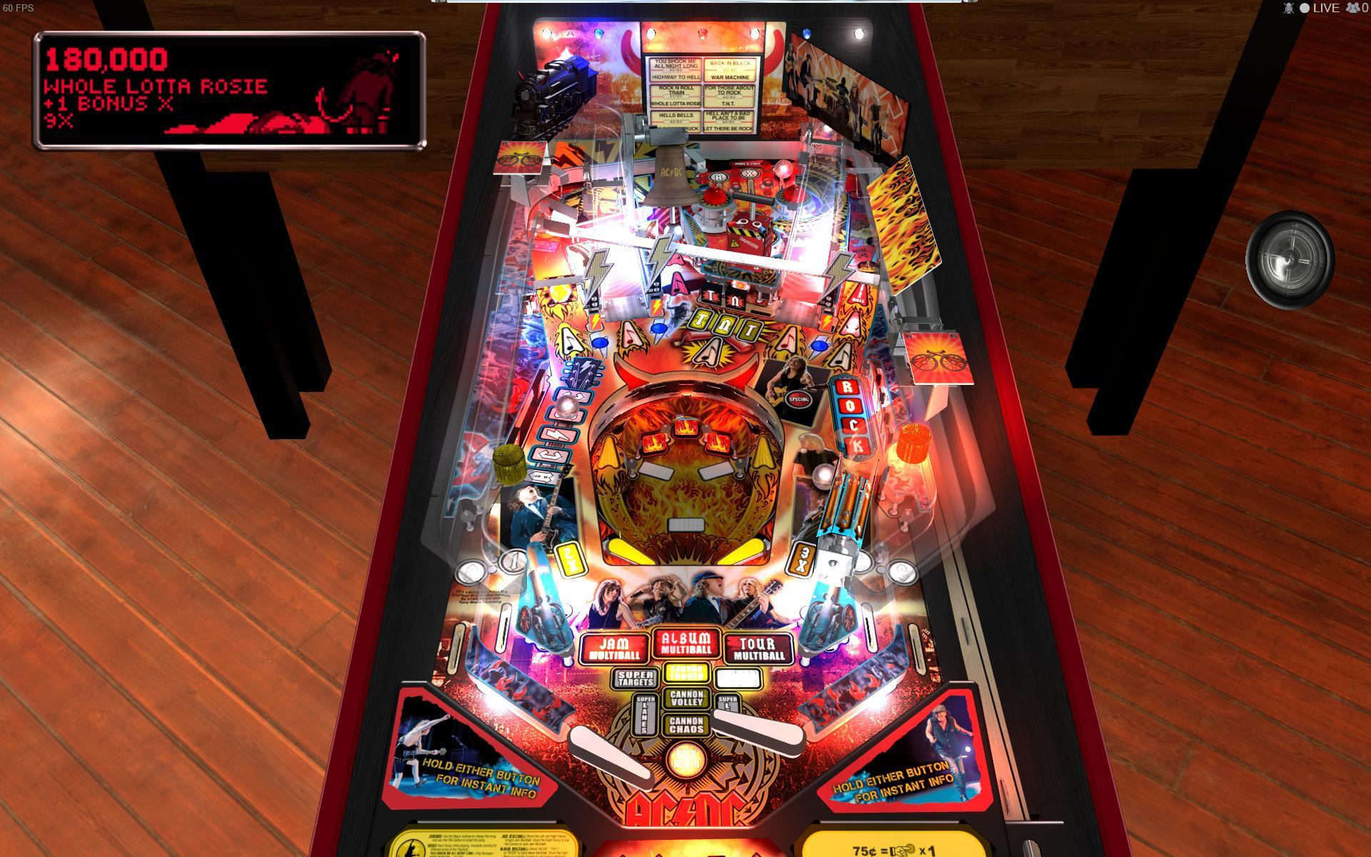 Stern Pinball Arcade: AC/DC screenshot