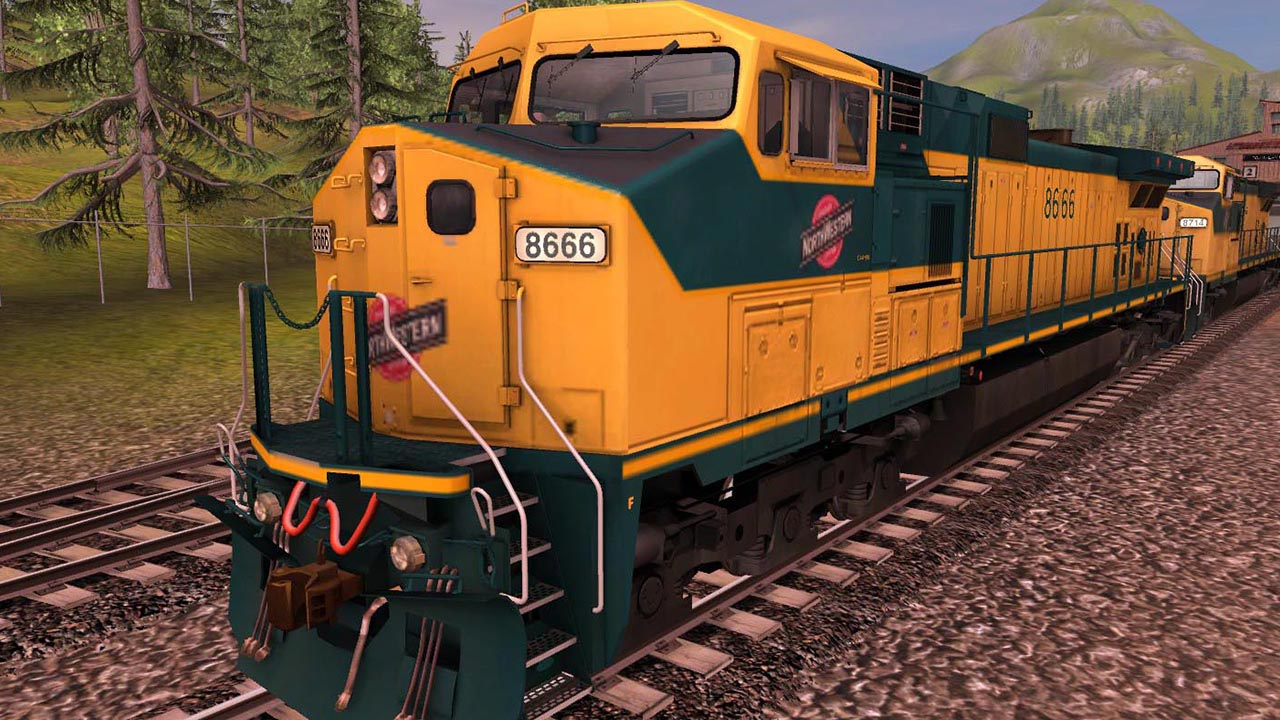 Trainz 2019 DLC: Chicago North Western GE Dash 9 44CW screenshot