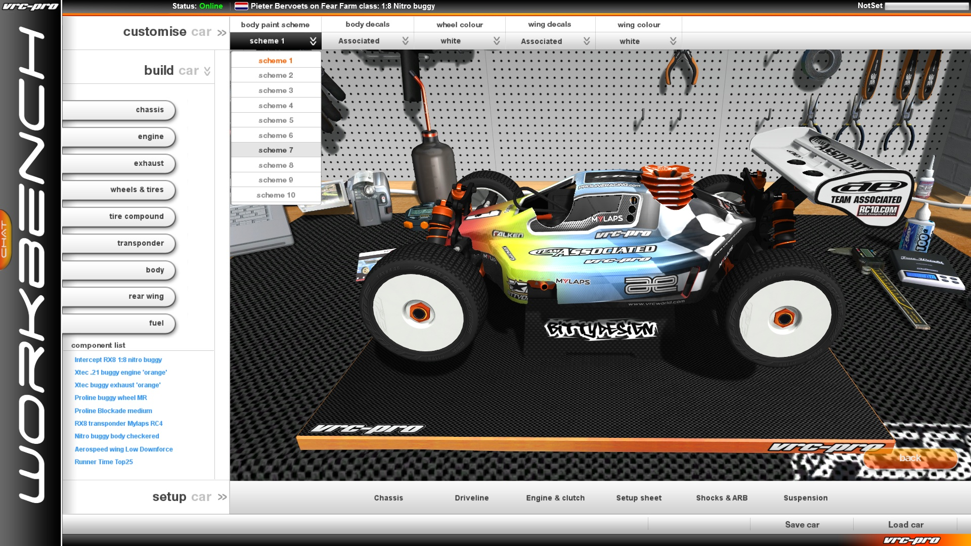VRC PRO Branded cars and components Deluxe screenshot