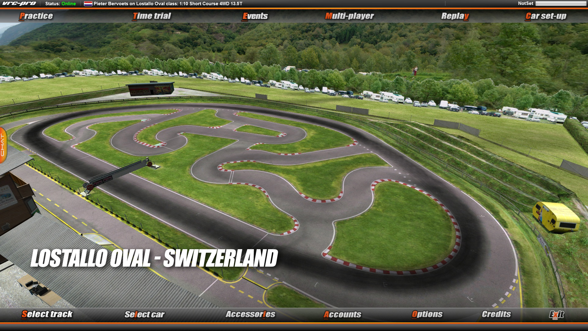 VRC PRO International Oval On-road tracks Deluxe screenshot
