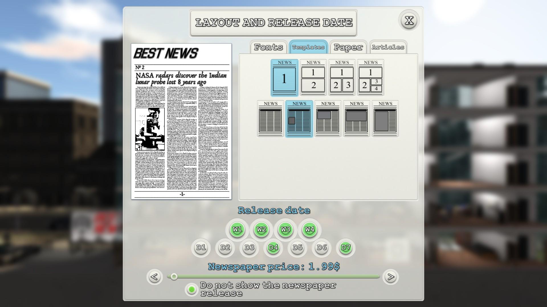 News Tycoon screenshot