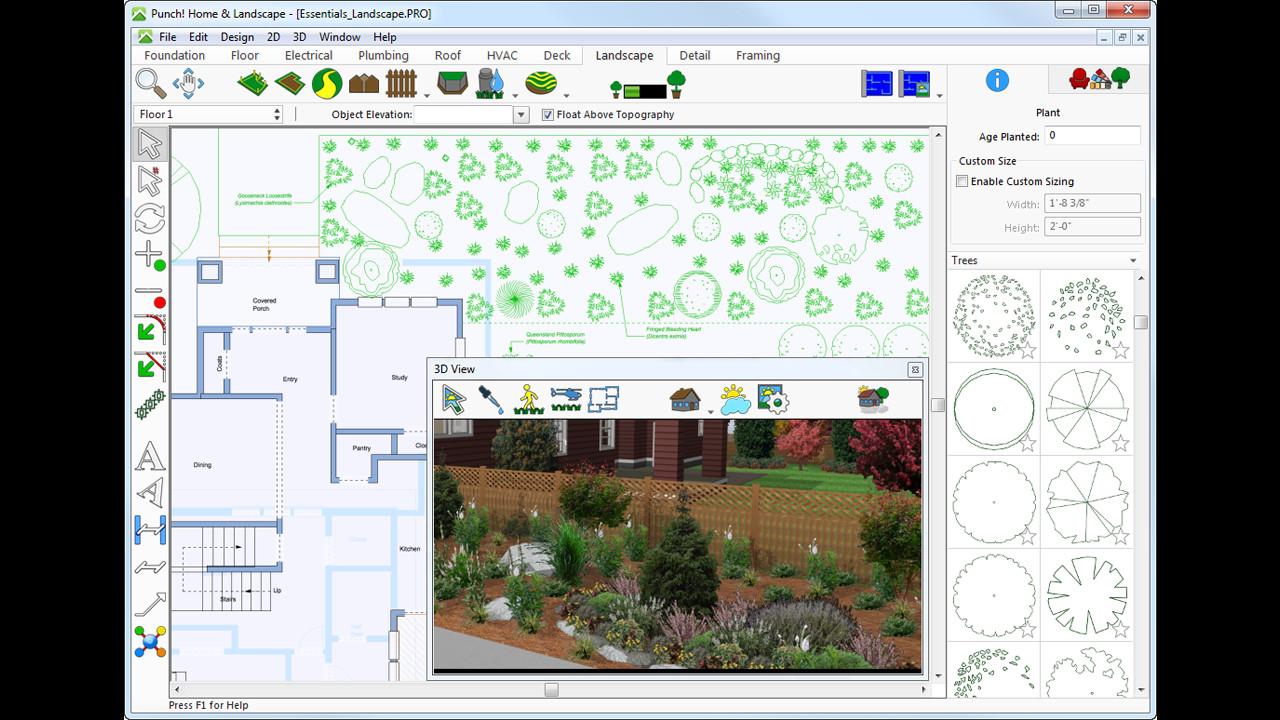 Punch home landscape design essentials v19 on steam for Punch home landscape design essentials 18