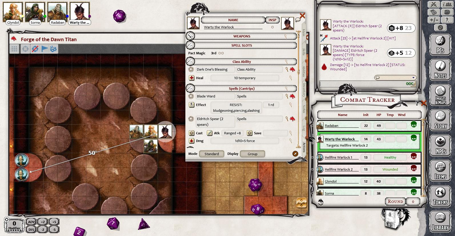 Fantasy Grounds - D&D Lair Assault: Forge of the Dawn Titan screenshot