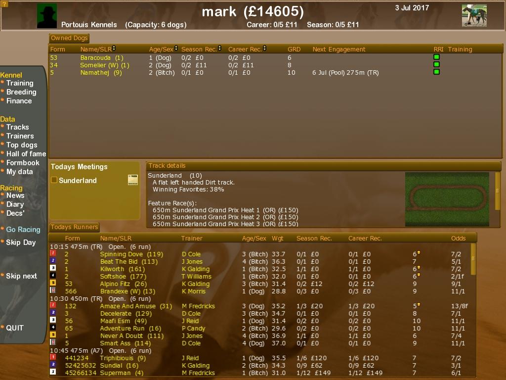 Greyhound Manager 2 Rebooted screenshot