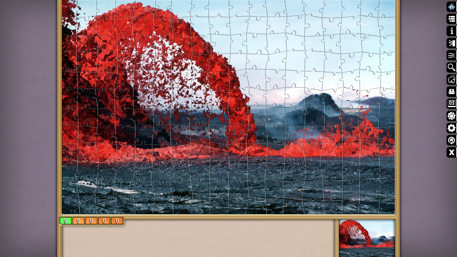 Jigsaw Puzzle Pack - Pixel Puzzles Ultimate: Volcanoes screenshot