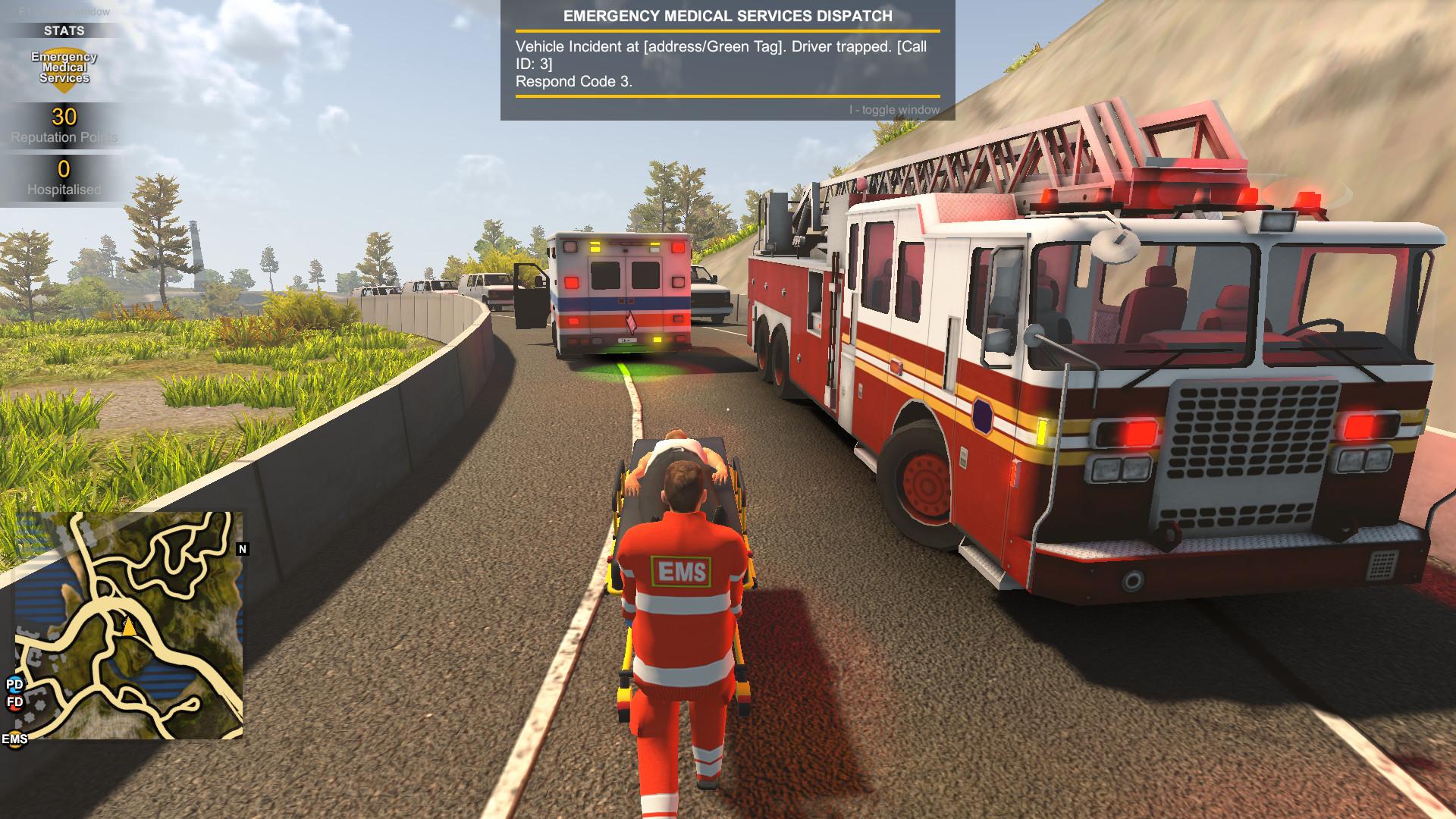Flashing Lights - Police, Firefighting, Emergency Services Simulator (警情,消防,急救) screenshot