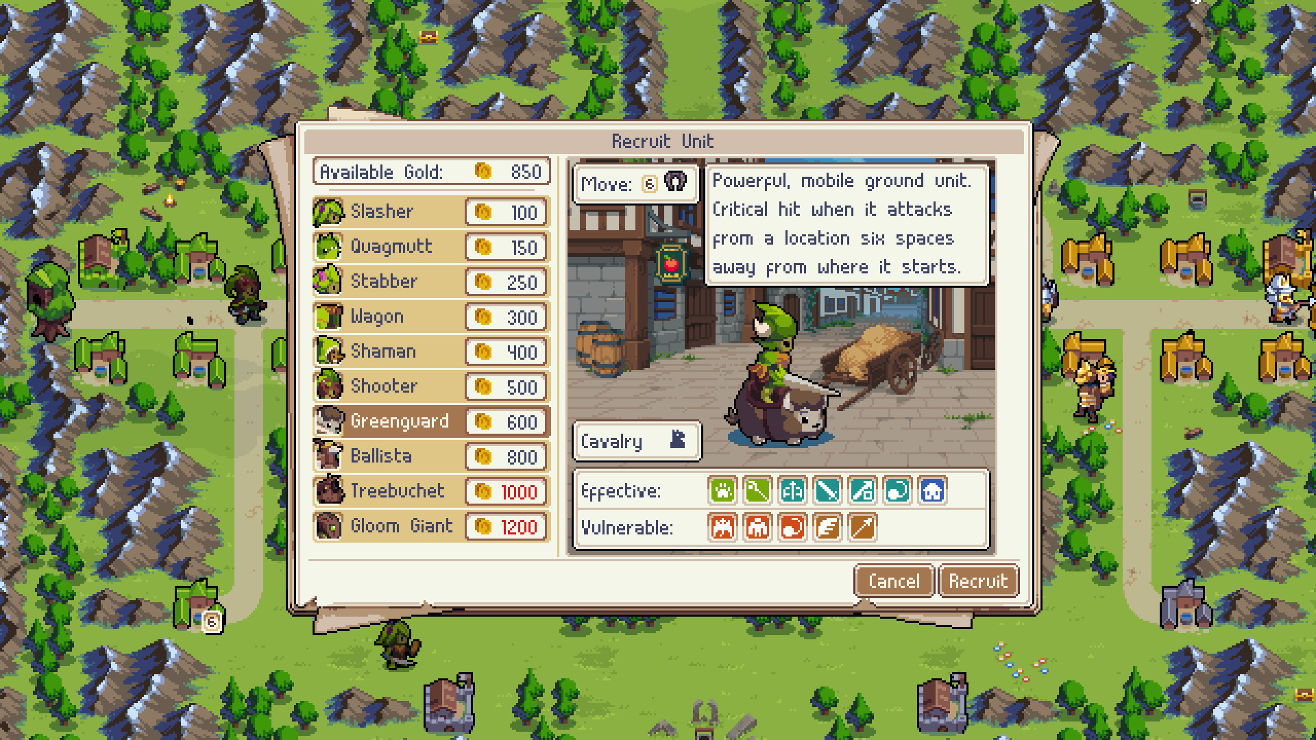 Wargroove screenshot
