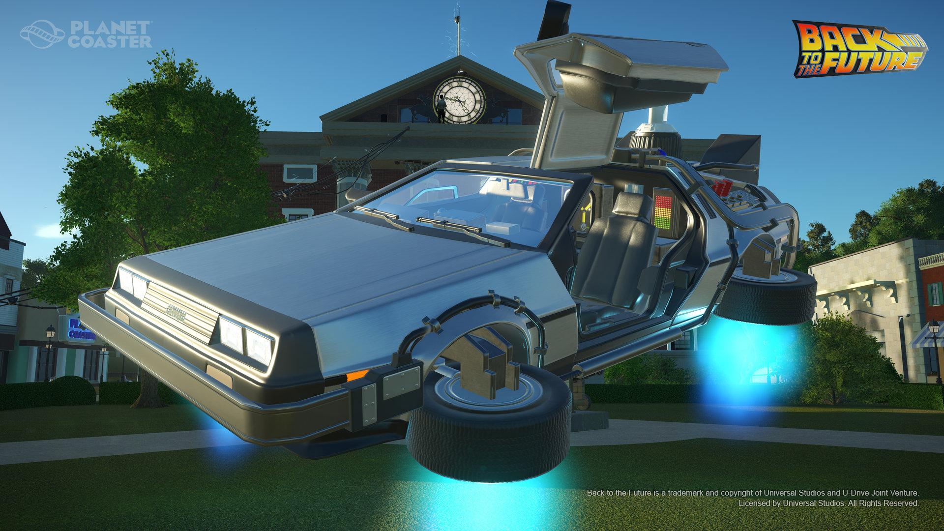 Planet Coaster - BacktotheFutureTimeMachineConstructionKit screenshot