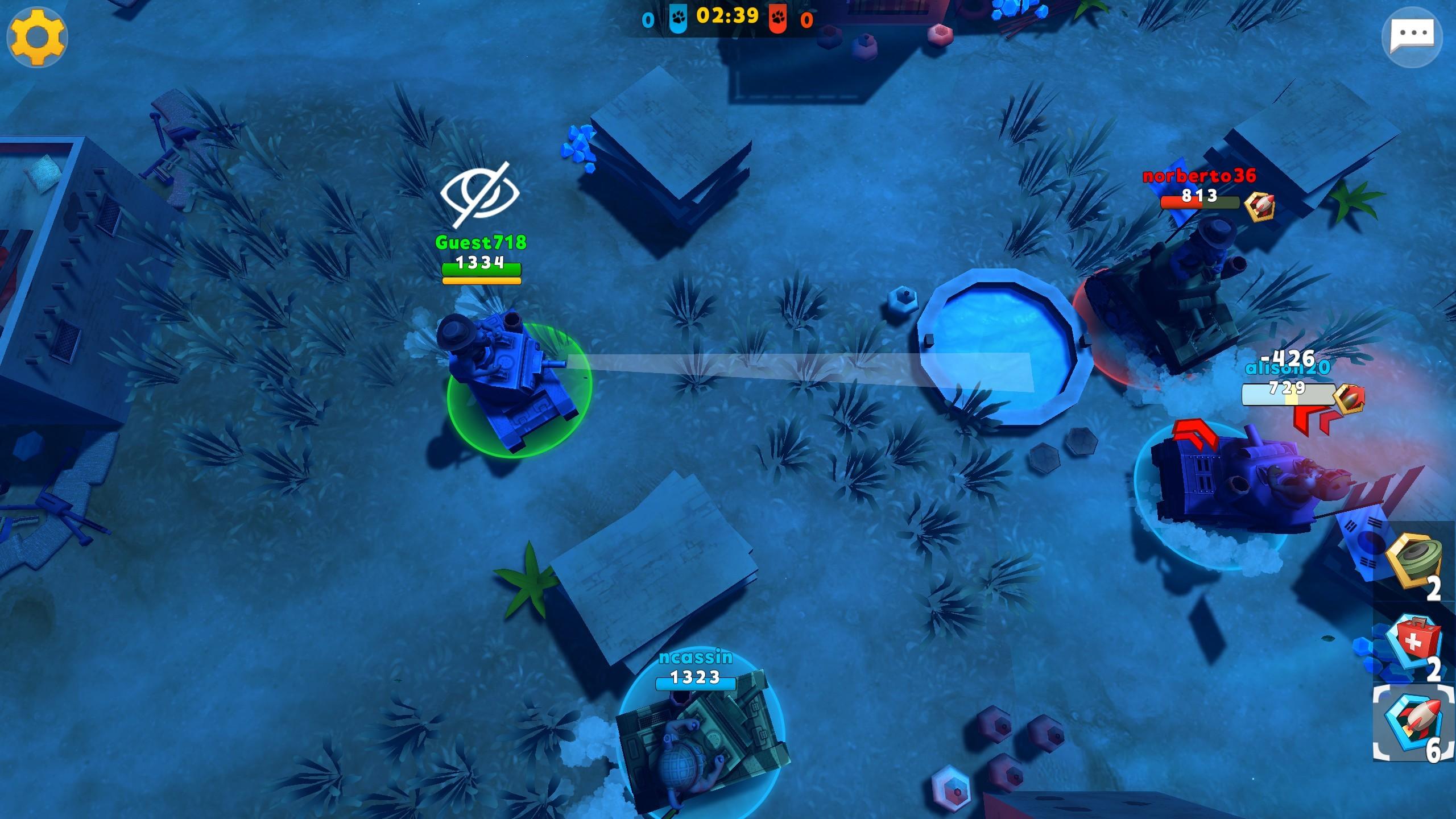 Zoo War: 3v3 Tank Online Games screenshot