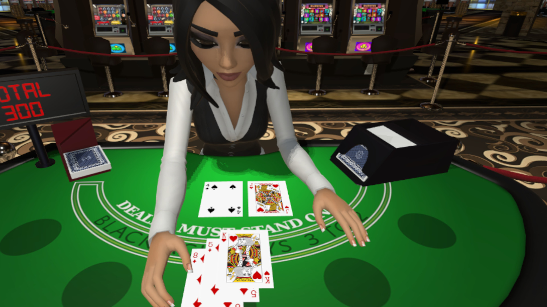 Virtual blackjack table - Blackjack Bailey Vr Is A Casual Casino Blackjack Game You Play In Virtual Reality Against A Cute And Charismatic Dealer That Goes By The Name Of Bailey
