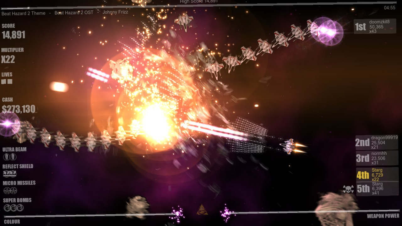 Beat Hazard 2 screenshot