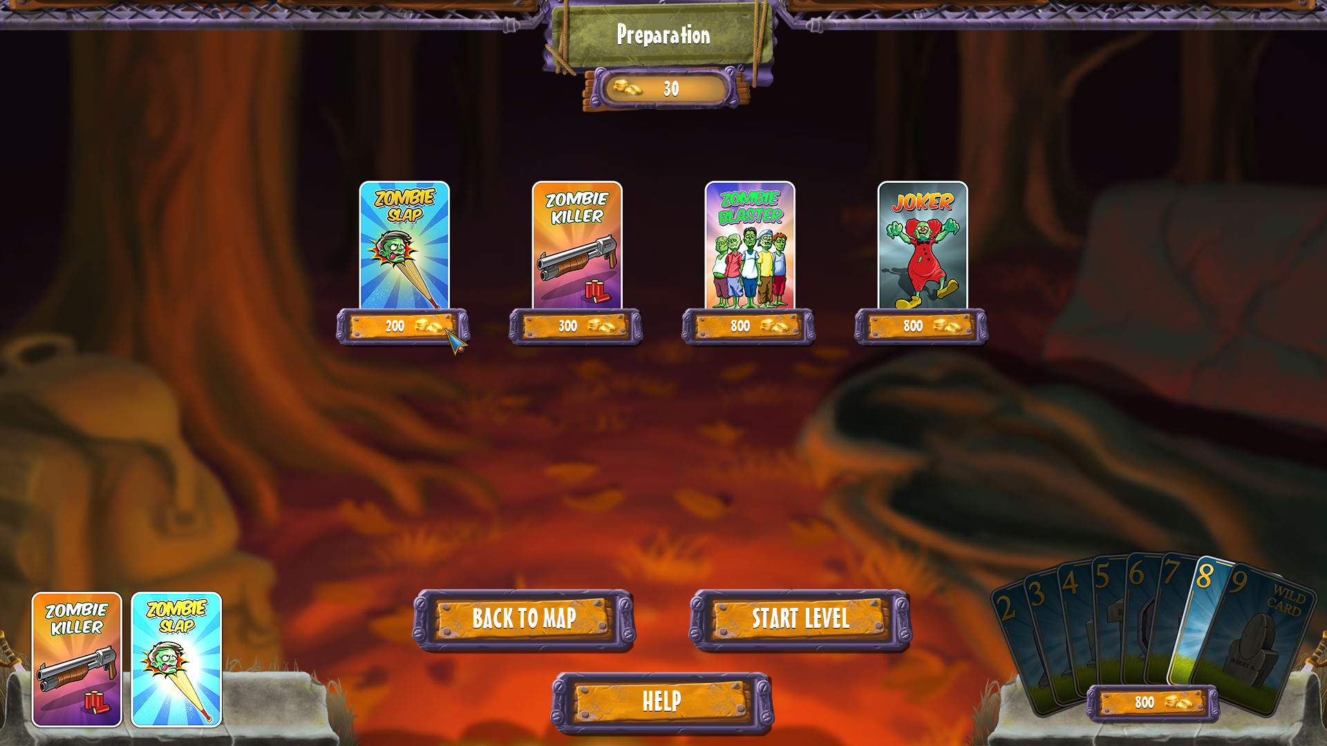 Zombie Solitaire 2 Chapter 1 screenshot