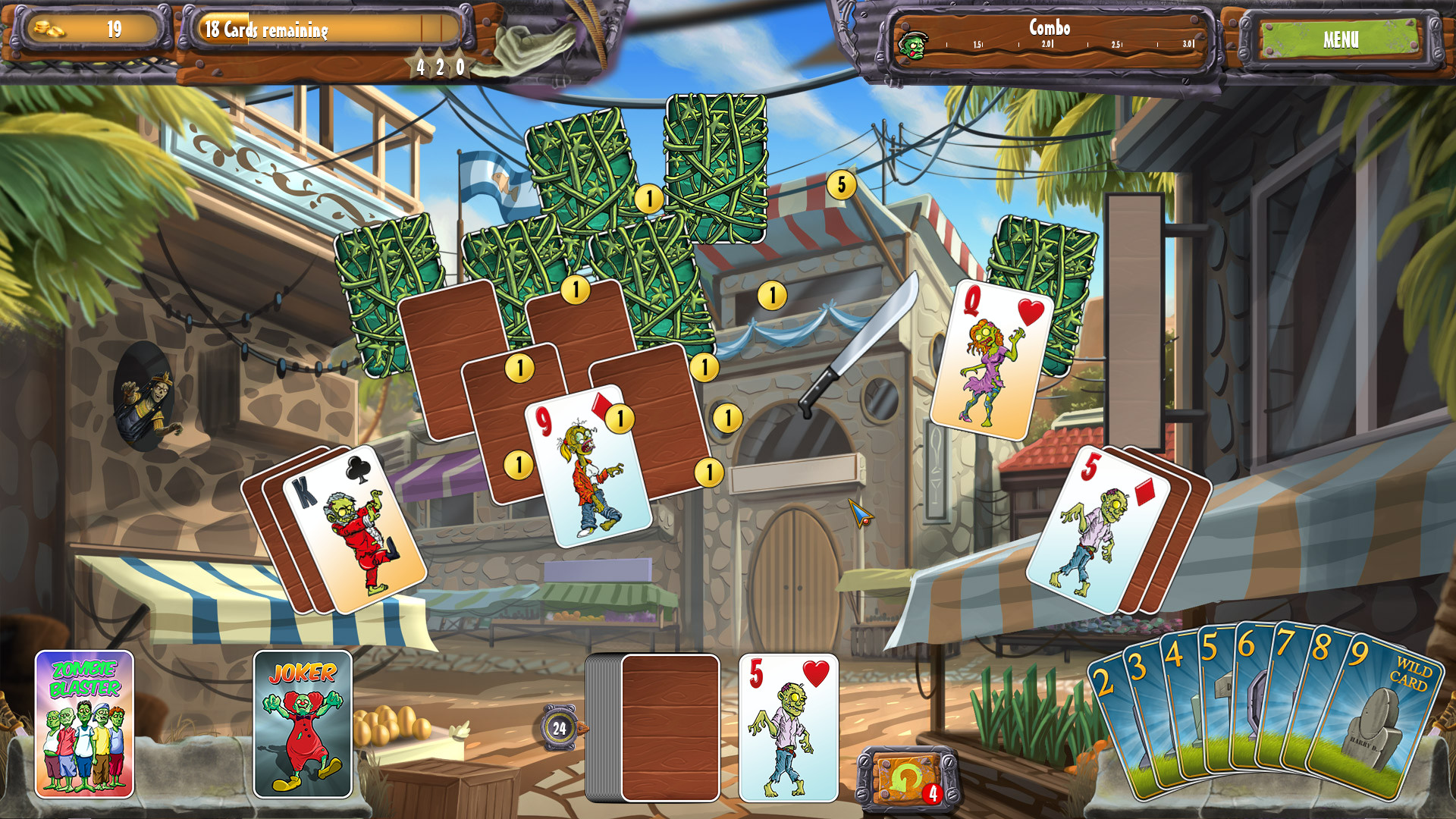 Zombie Solitaire 2 Chapter 3 screenshot