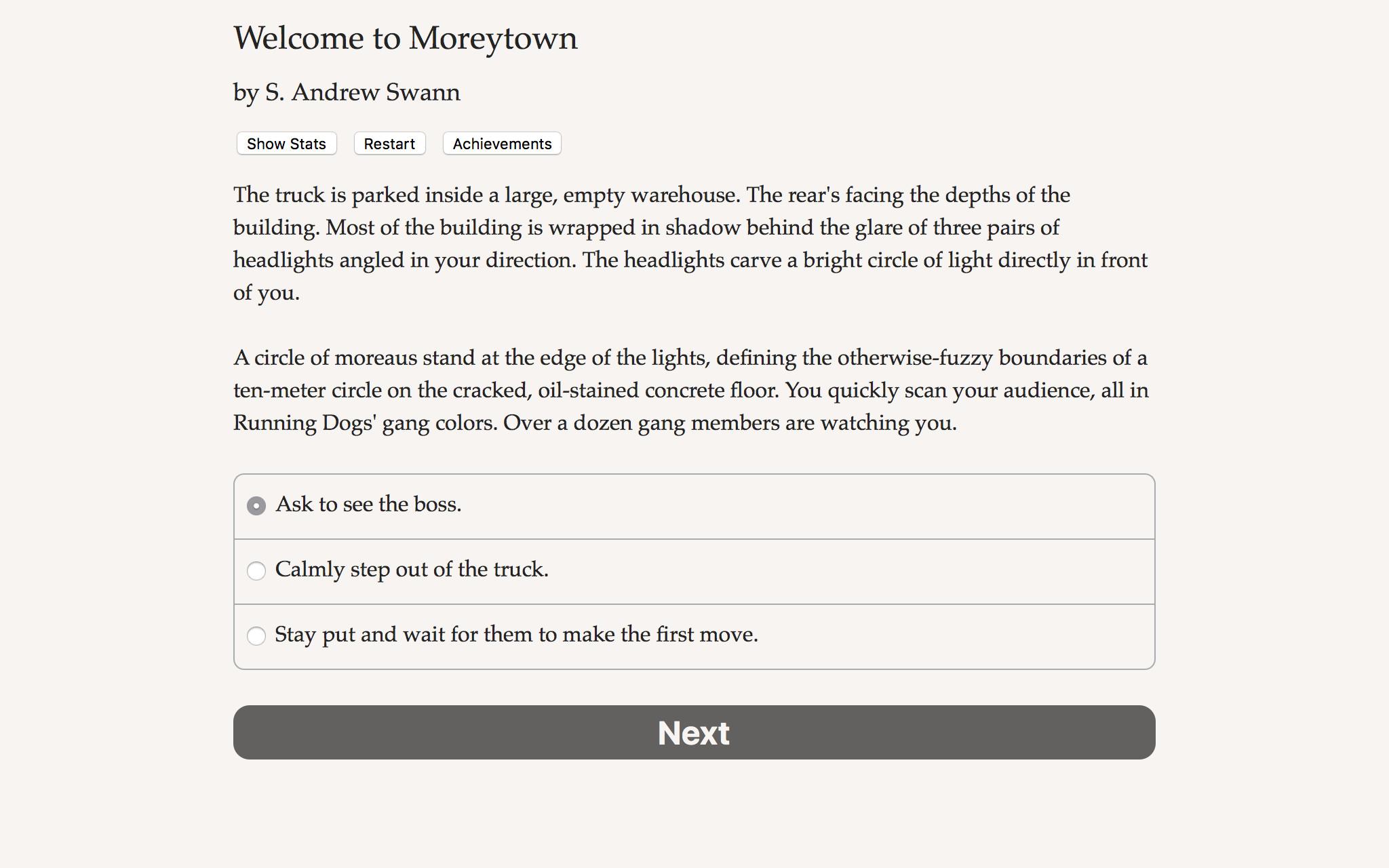 Welcome to Moreytown screenshot