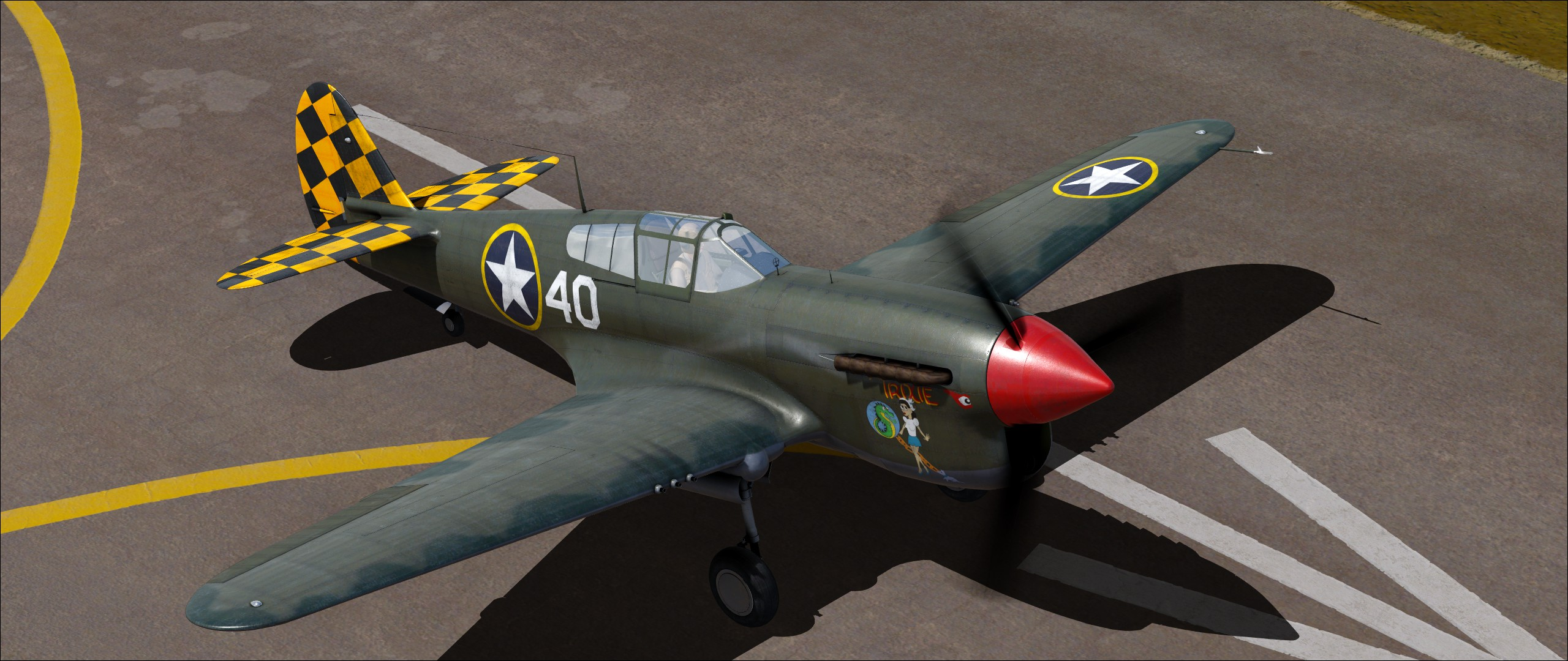 Flight Sim World: Curtiss P-40F Warhawk Add-On screenshot