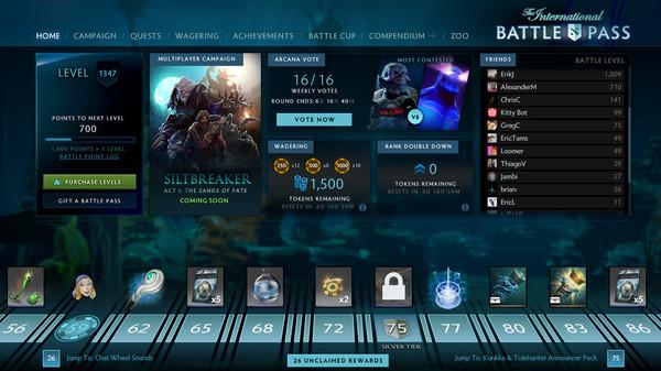скриншот The International 2017 Battle Pass 0