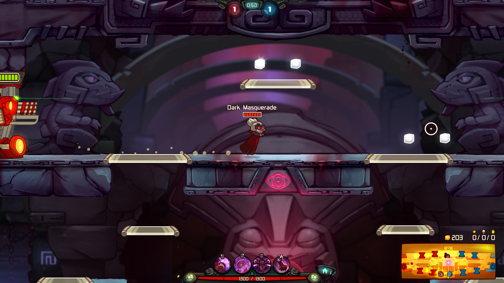 Awesomenauts - Dark Masquerade Qi'Tara Skin screenshot