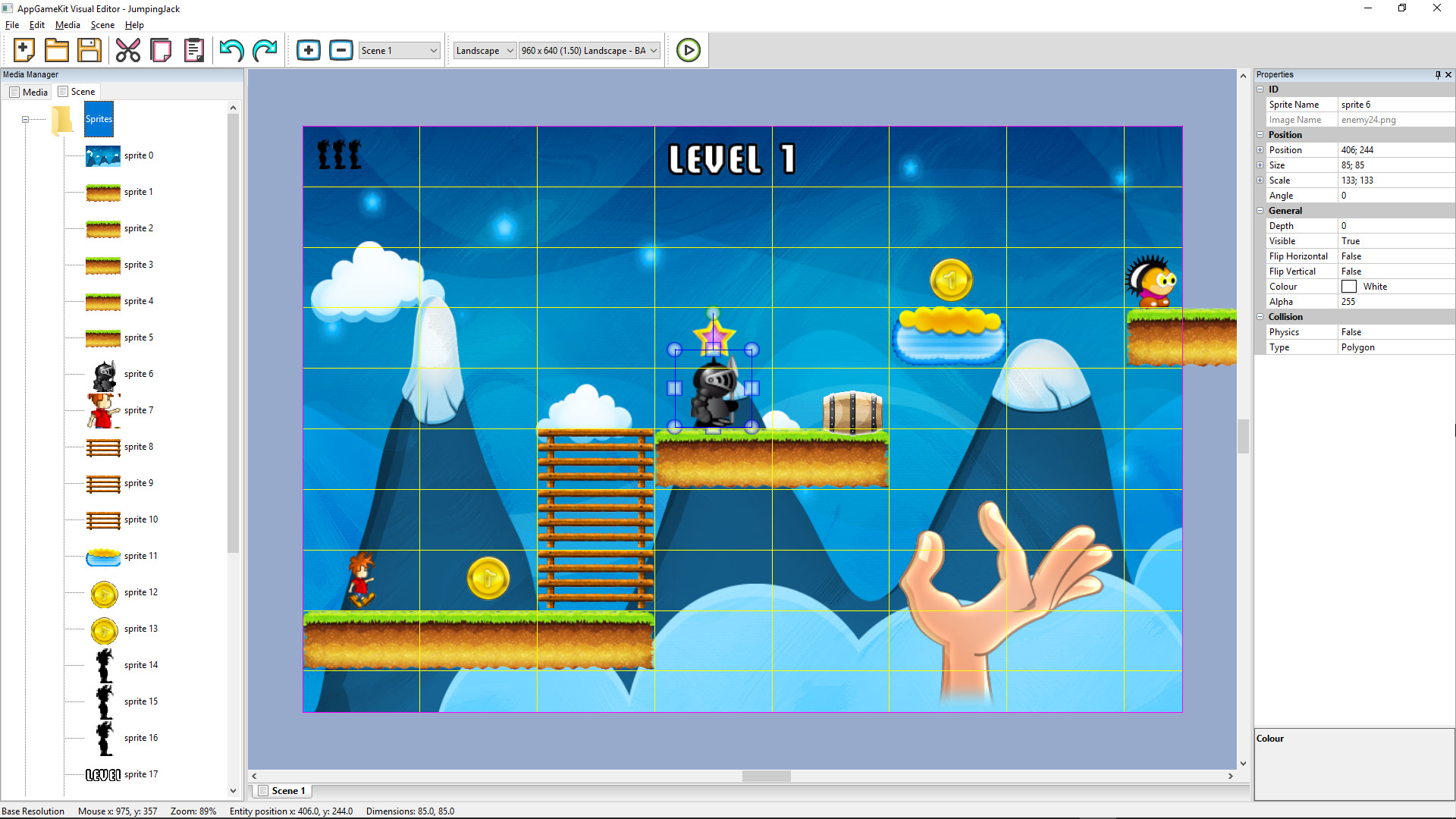 AppGameKit Classic - Visual Editor screenshot