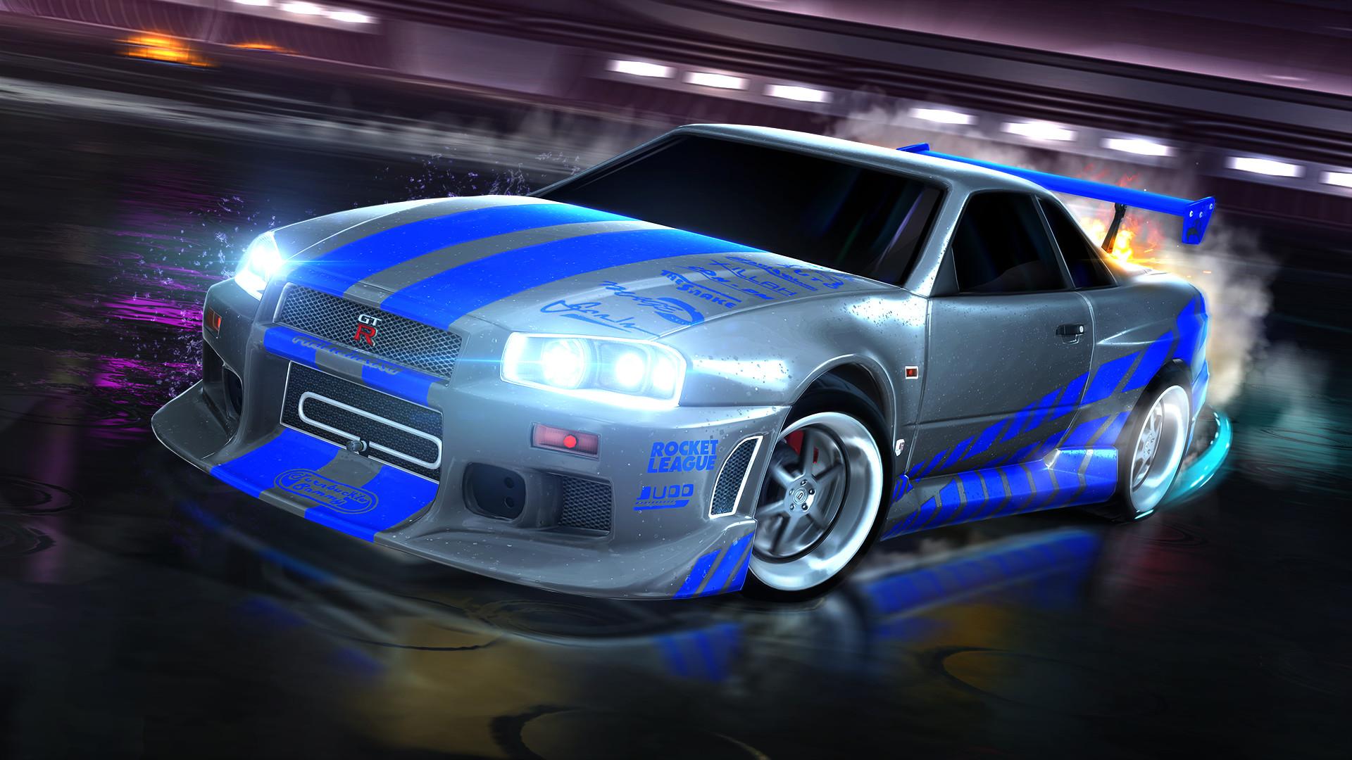 Rocket League – Fast & Furious '99 Nissan Skyline GT-R R34 screenshot