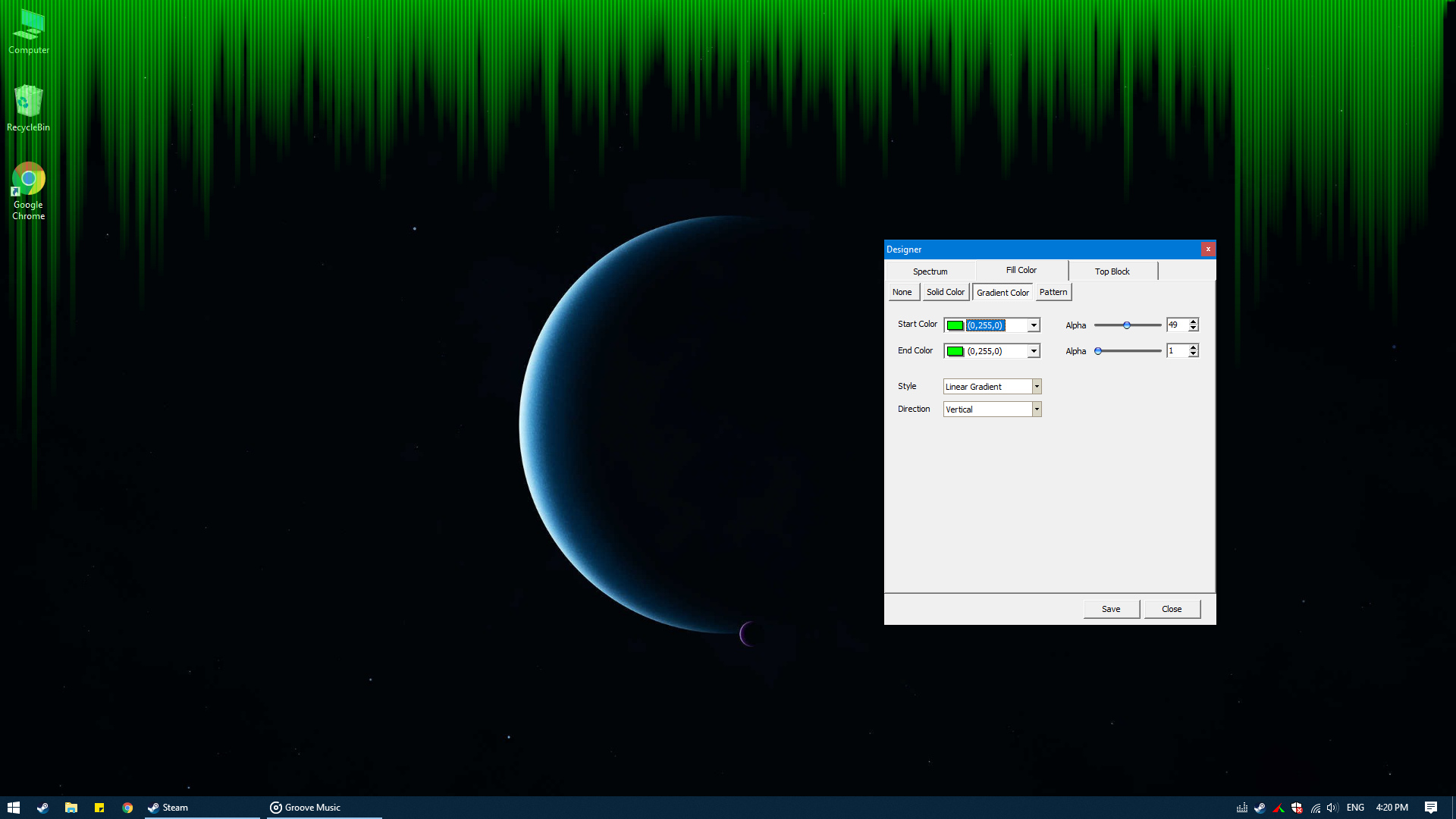 Desktop Audio Visualizer screenshot