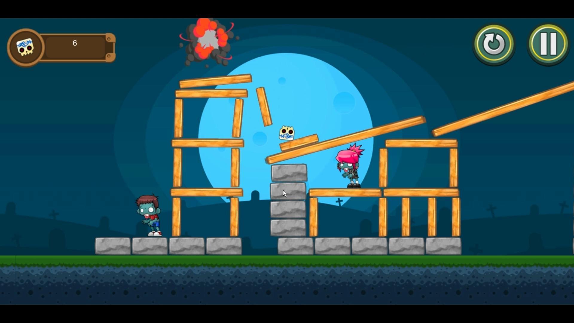 SlingSkull Zombies: Gravedigger screenshot