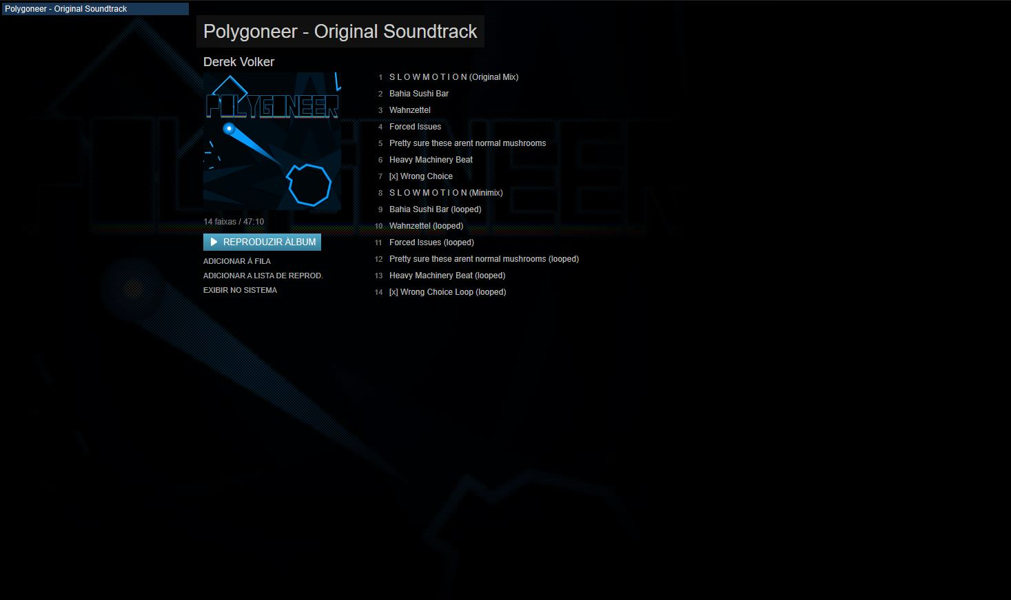 Polygoneer: Original Soundtrack screenshot