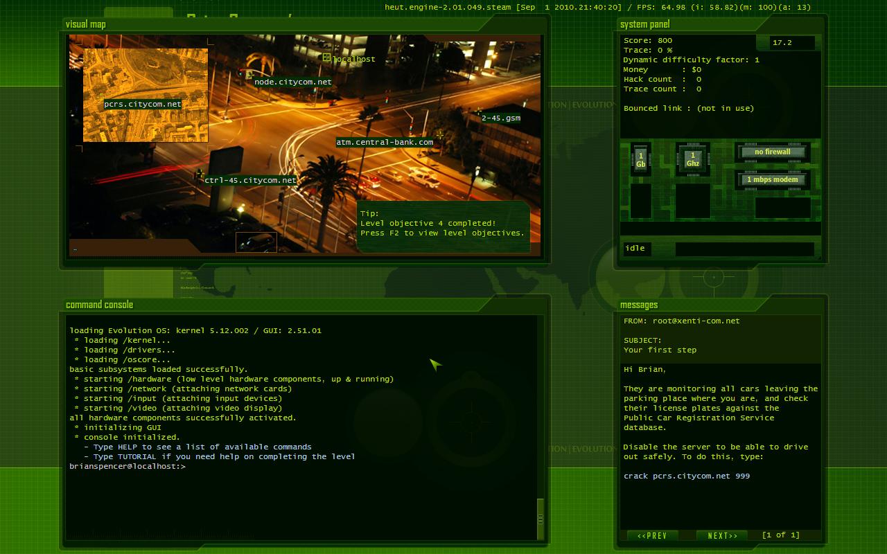 Hacker Evolution: Untold screenshot