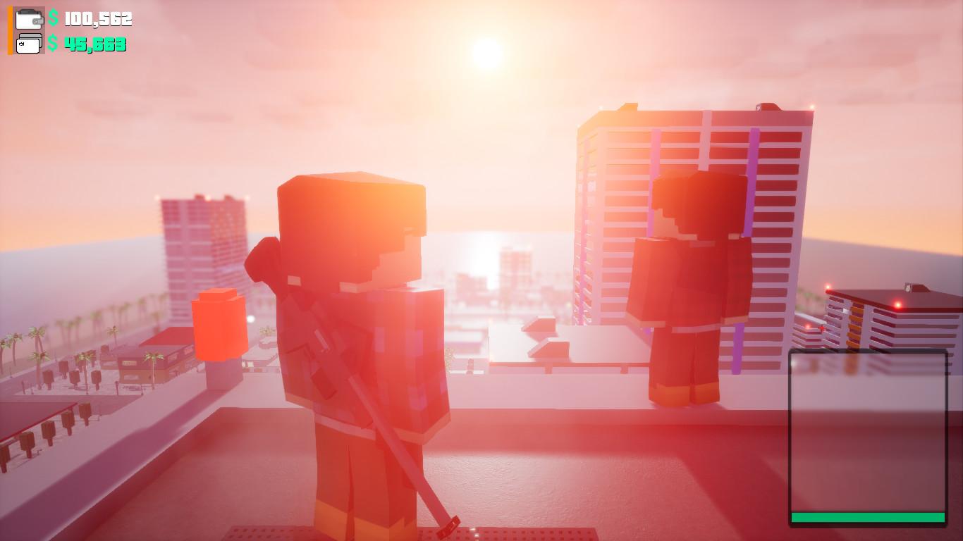 """BLOCK WARRIORS: """"Open World"""" Game screenshot"""