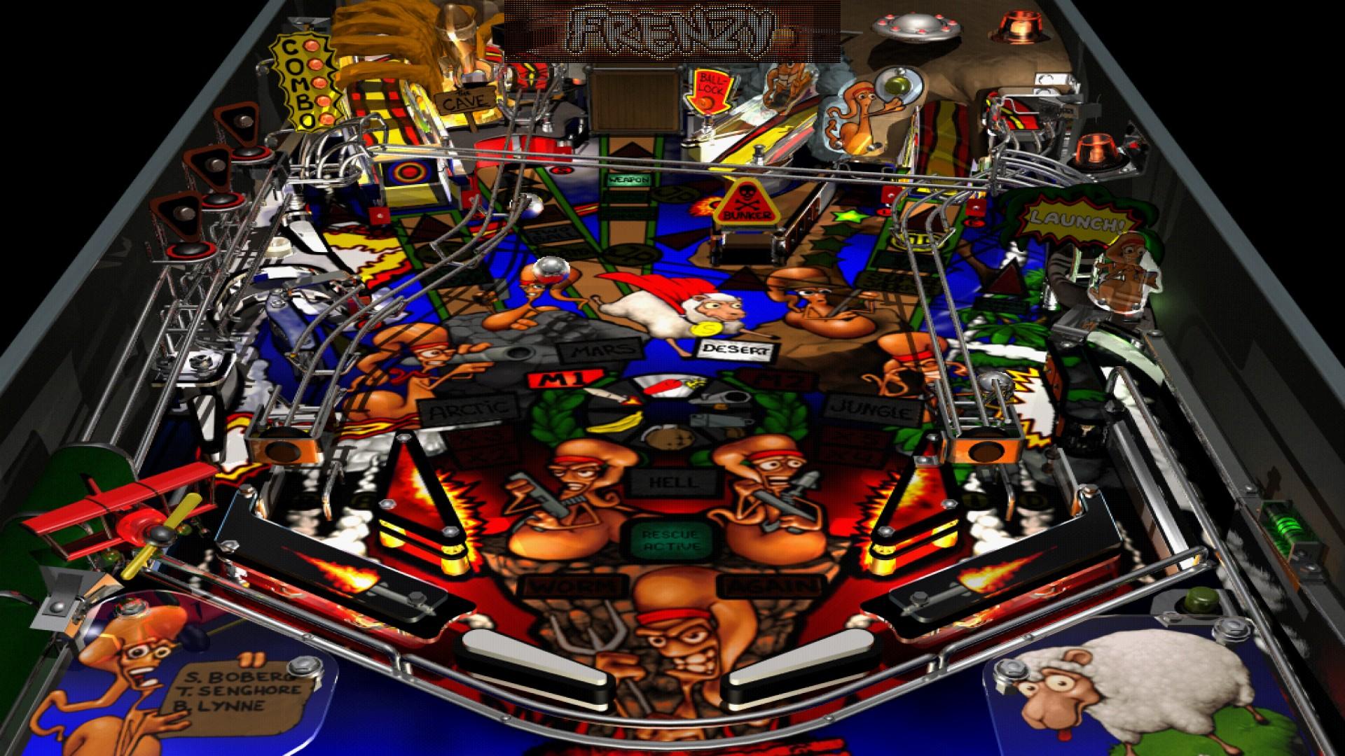 Worms Pinball screenshot