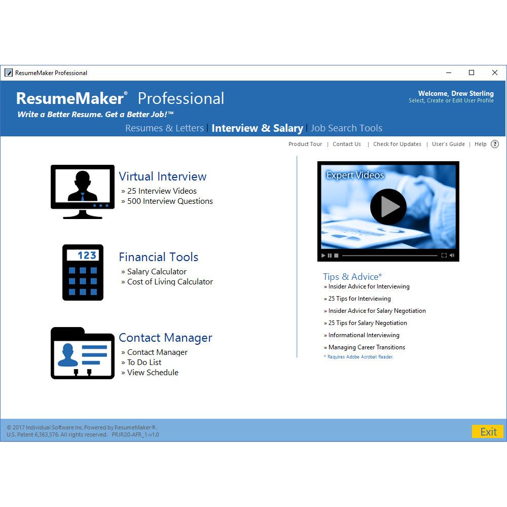 ResumeMaker Professional Deluxe 20 screenshot