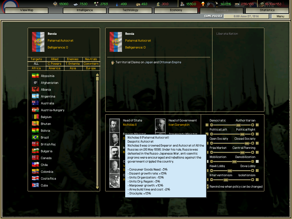 Darkest Hour: A Hearts of Iron Game screenshot
