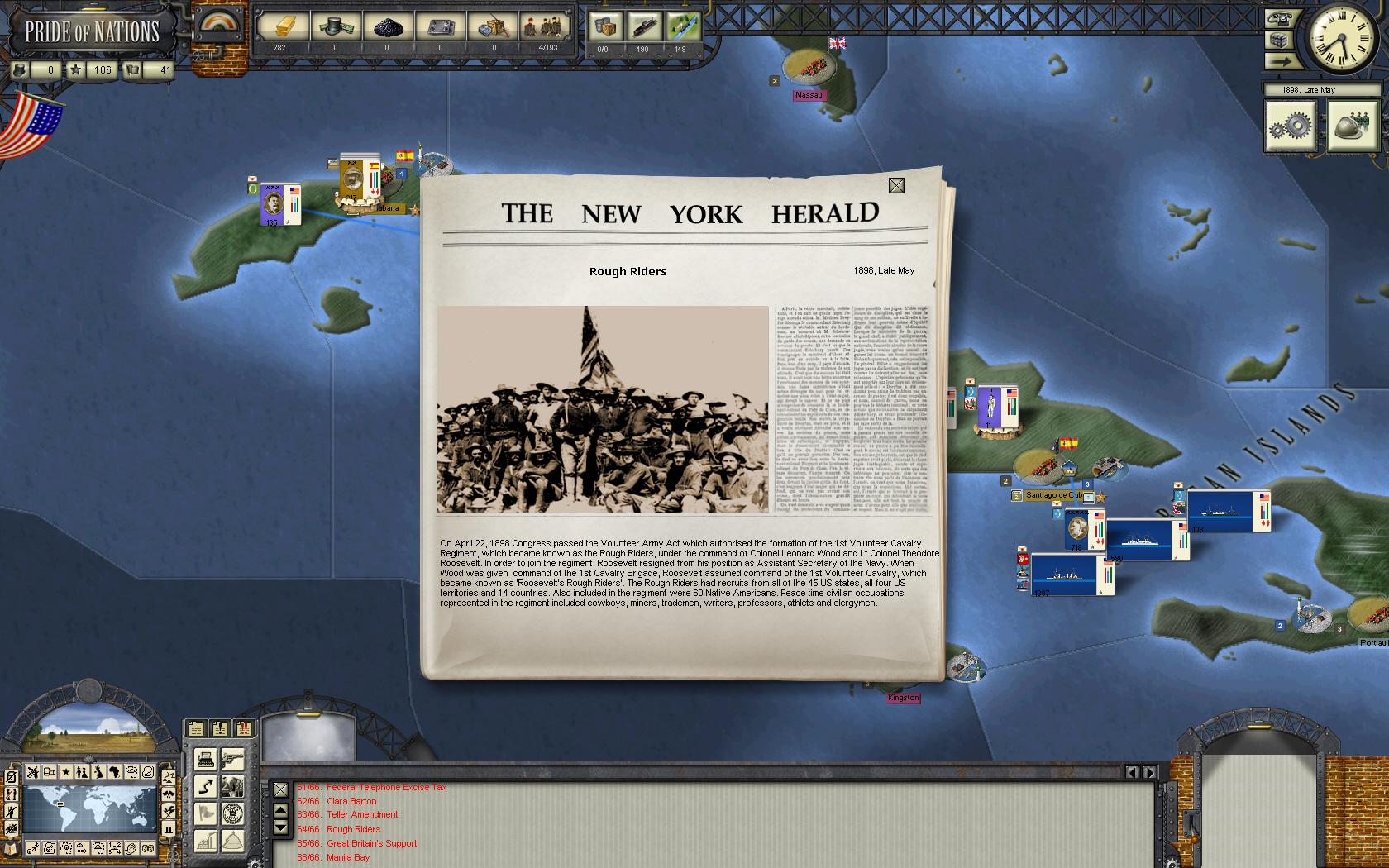 Pride of Nations: Spanish-American War 1898 screenshot