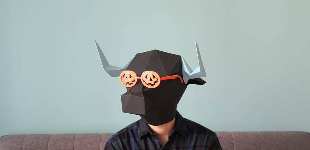 TAURONOS - Minotaur Paper Mask Pattern screenshot