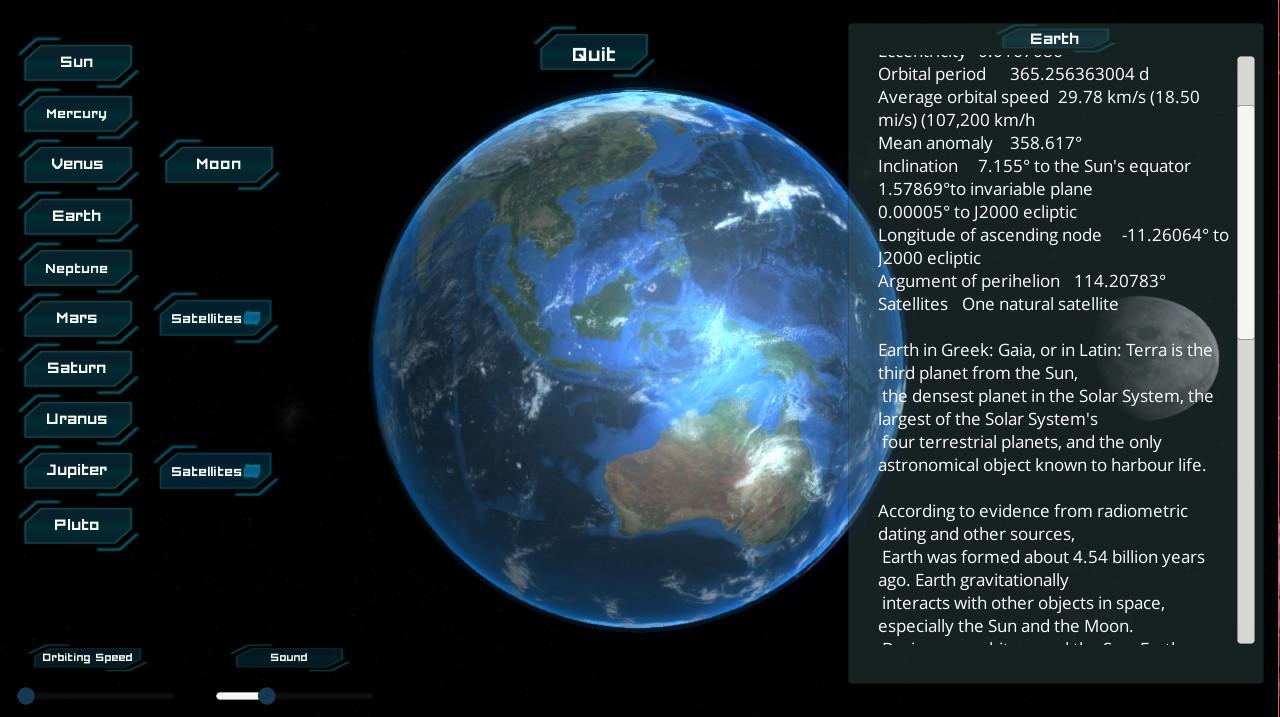 Solar System screenshot