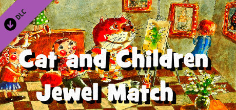 Jewels of the Mysterious Woodland: Cat and Children Jewel Match