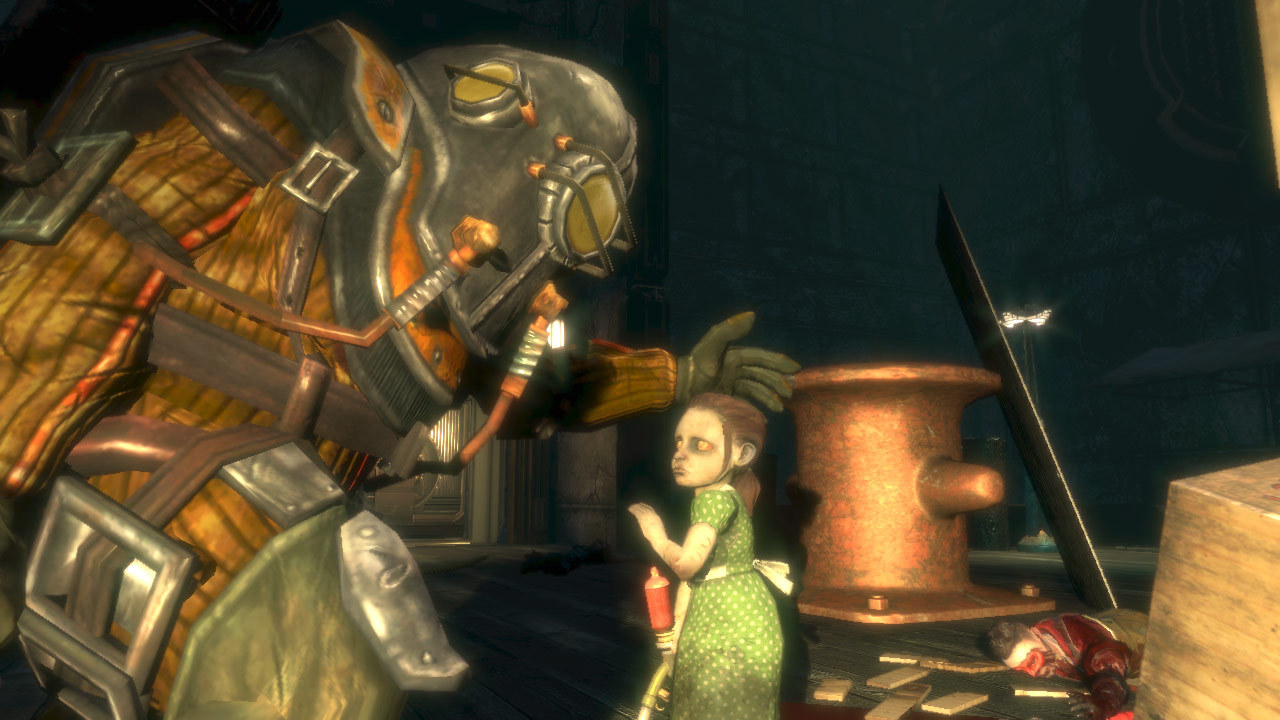 There, there. I'll kill them all for you. (BioShock, Irrational games)