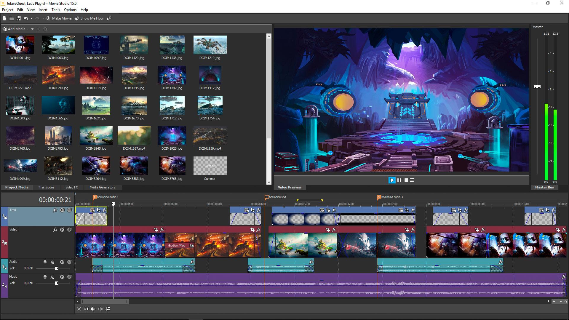 VEGAS Movie Studio 15 Steam Edition screenshot