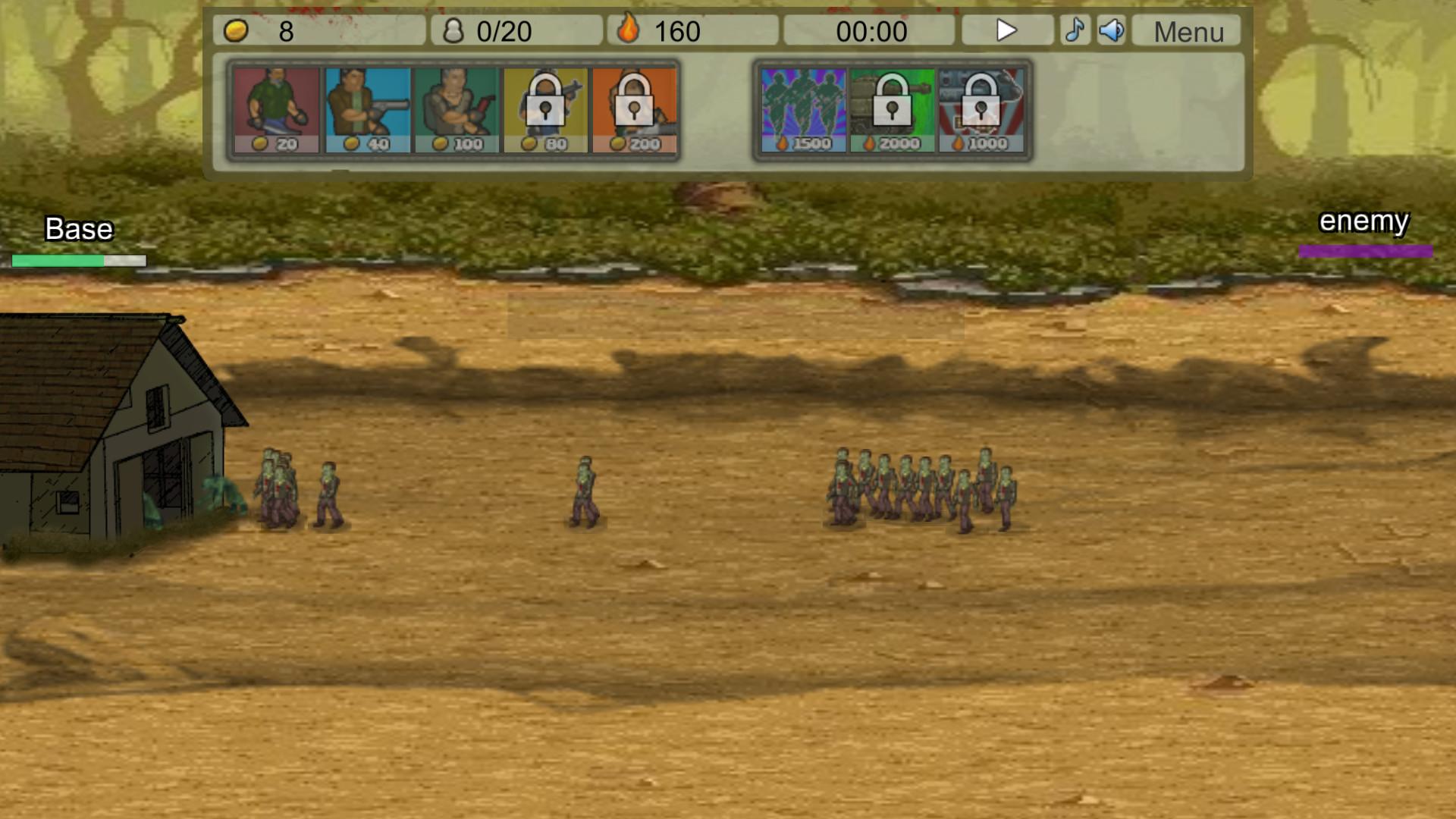 Zombie Clicker Defense screenshot