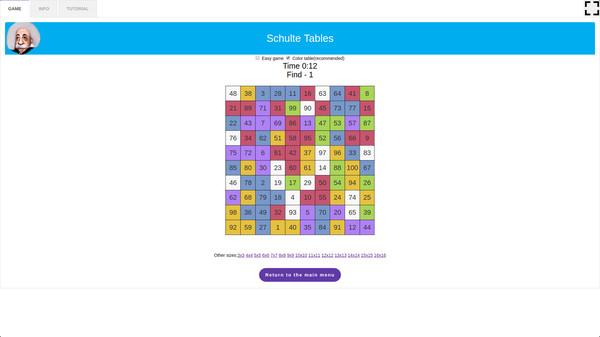 скриншот 5-in-1 Bundle Brain Trainings - Schulte Tables 2