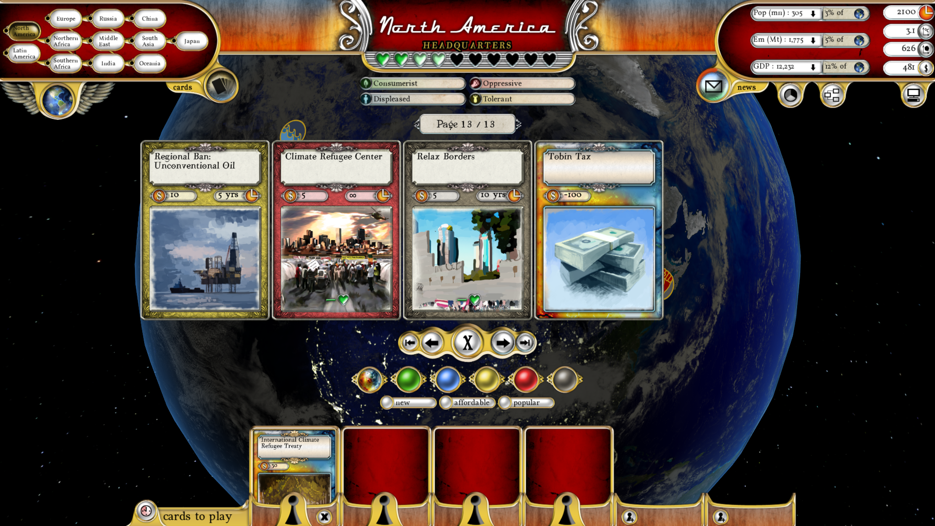 Fate of the World: Migration screenshot