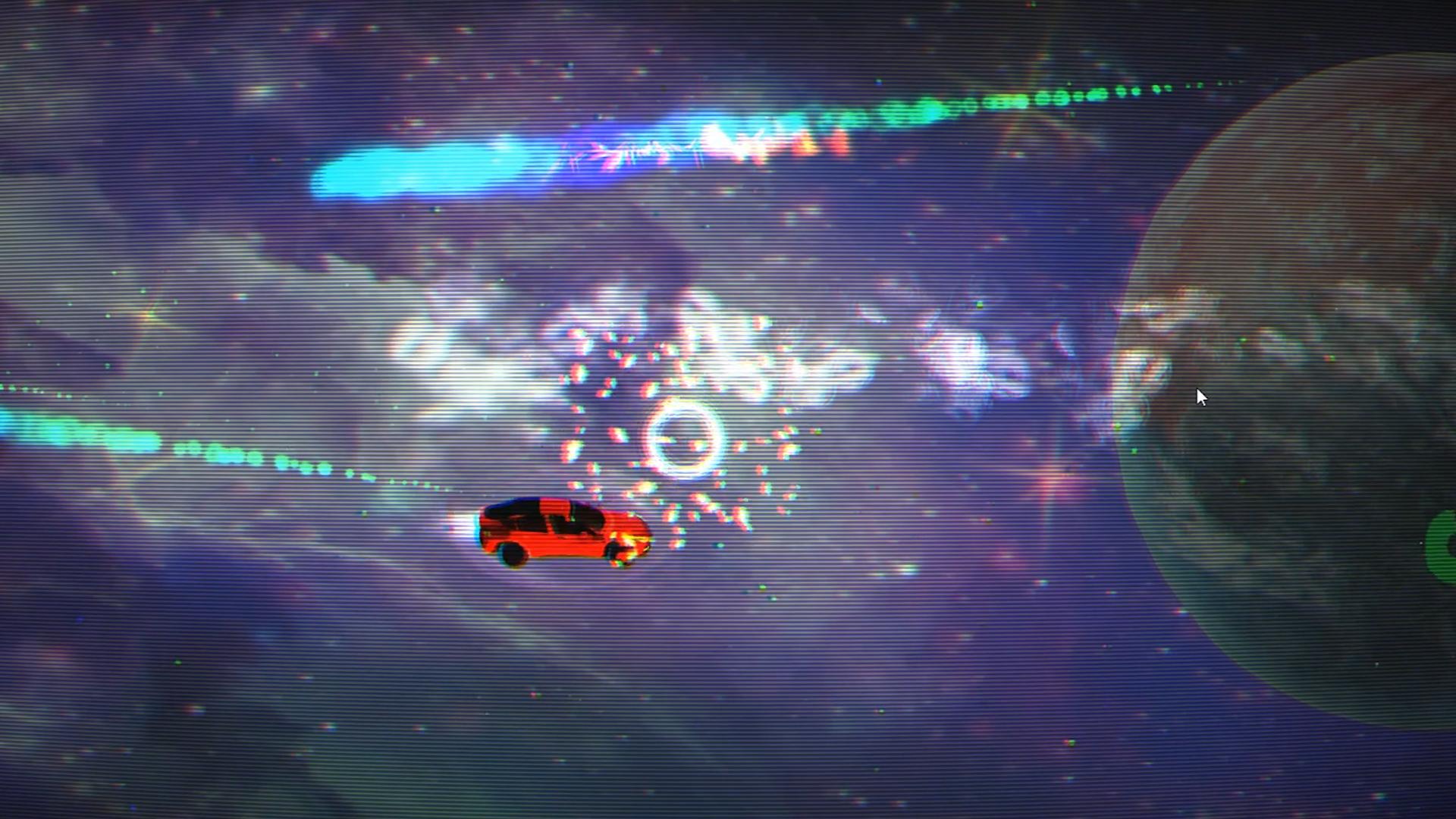 Tesla roadster going to mars screenshot