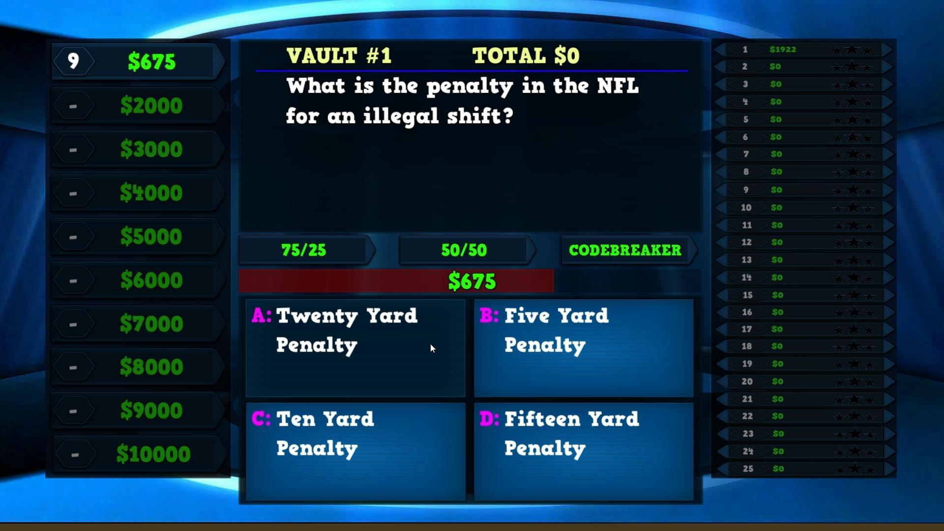 Trivia Vault Football Trivia screenshot