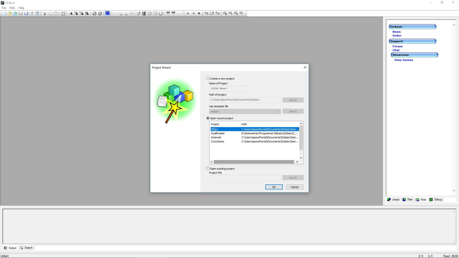 GLBasic SDK screenshot