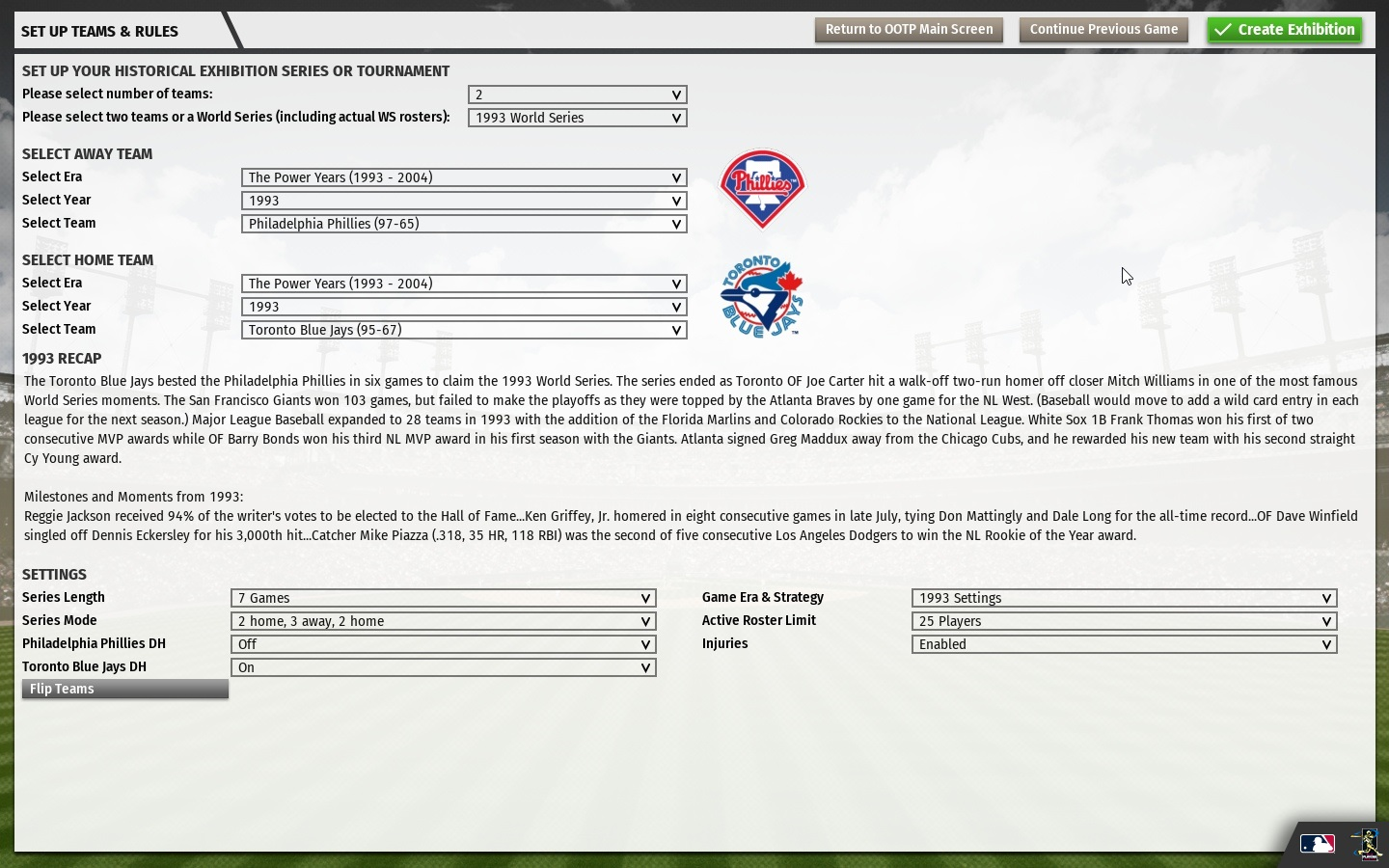 Out of the Park Baseball 20 screenshot