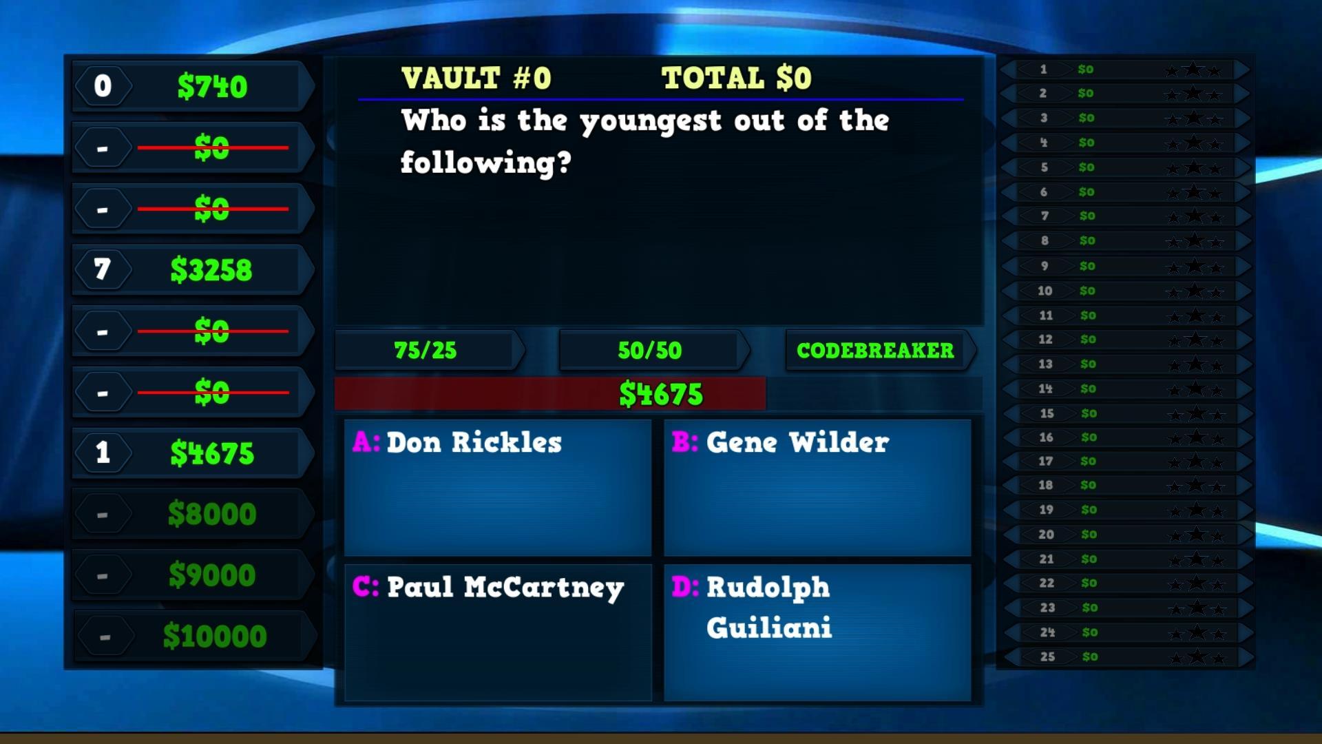 Trivia Vault: Celebrity Trivia screenshot