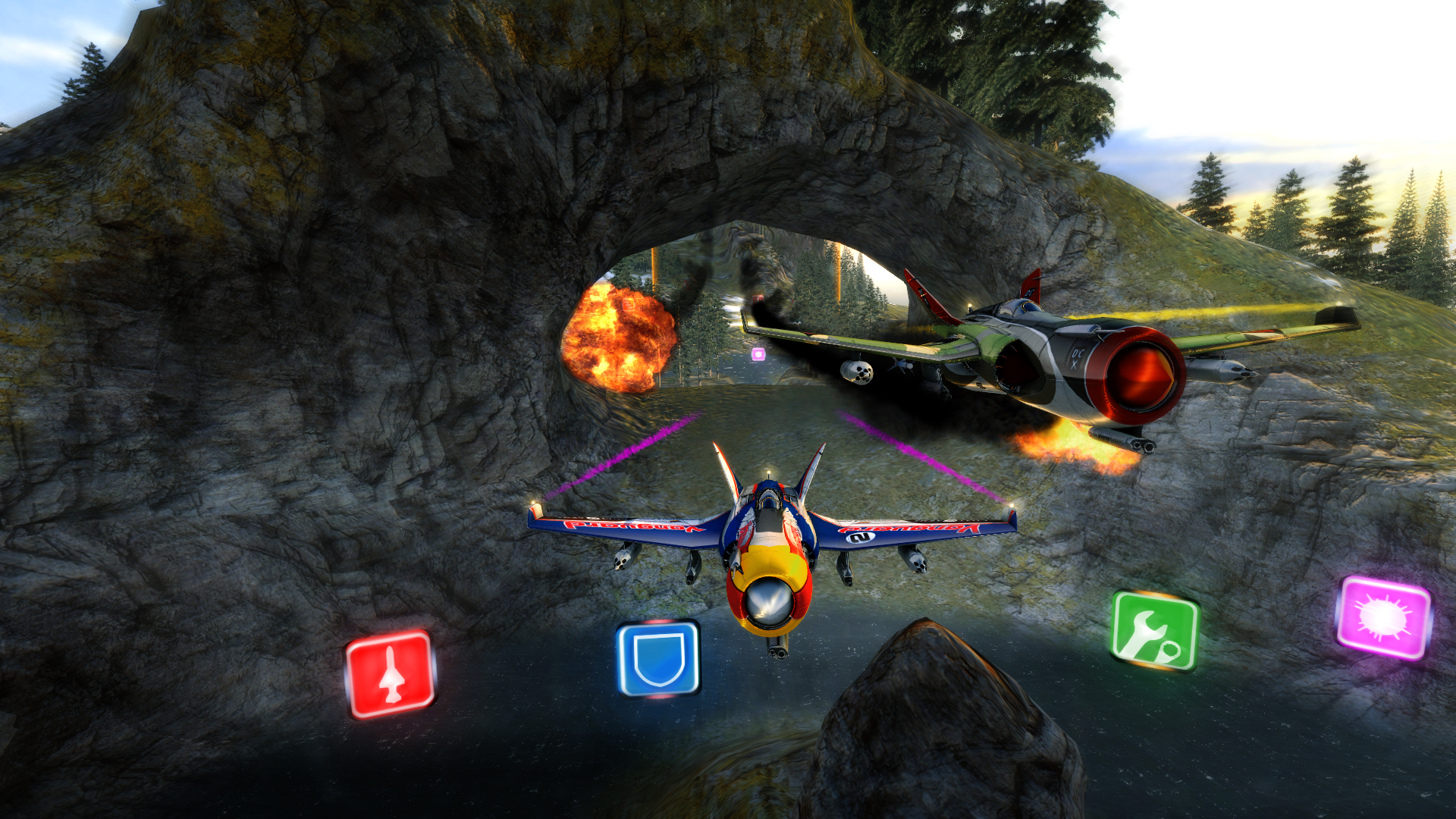 SkyDrift: Extreme Fighters Premium Airplane Pack screenshot