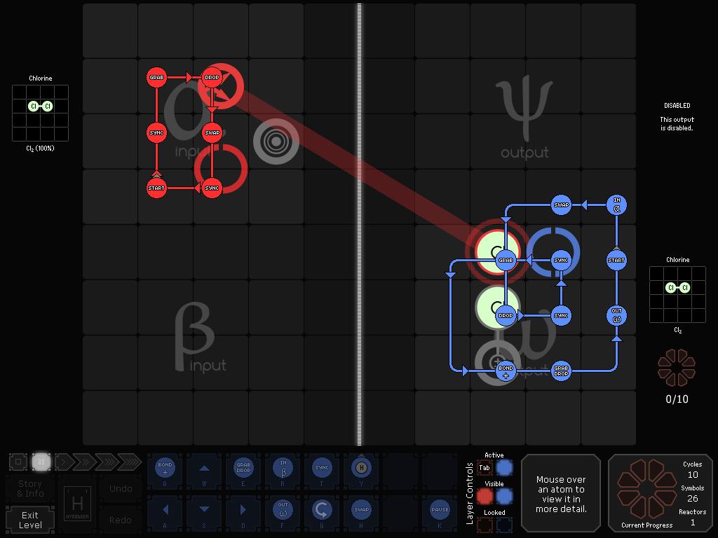 SpaceChem: 63 Corvi screenshot